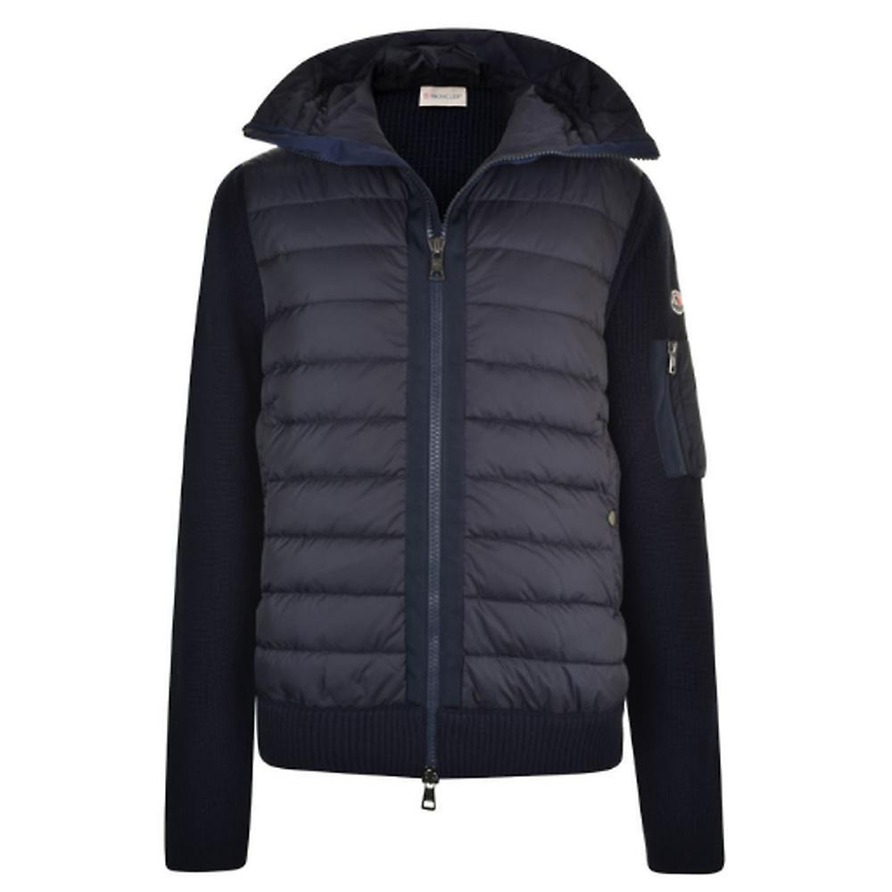 ◆Moncler モンクレール KNITTED SLEEVE QUILTED ダウン Navy