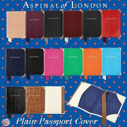 Aspinal of London☆Plain Passport Cover カラー豊富!