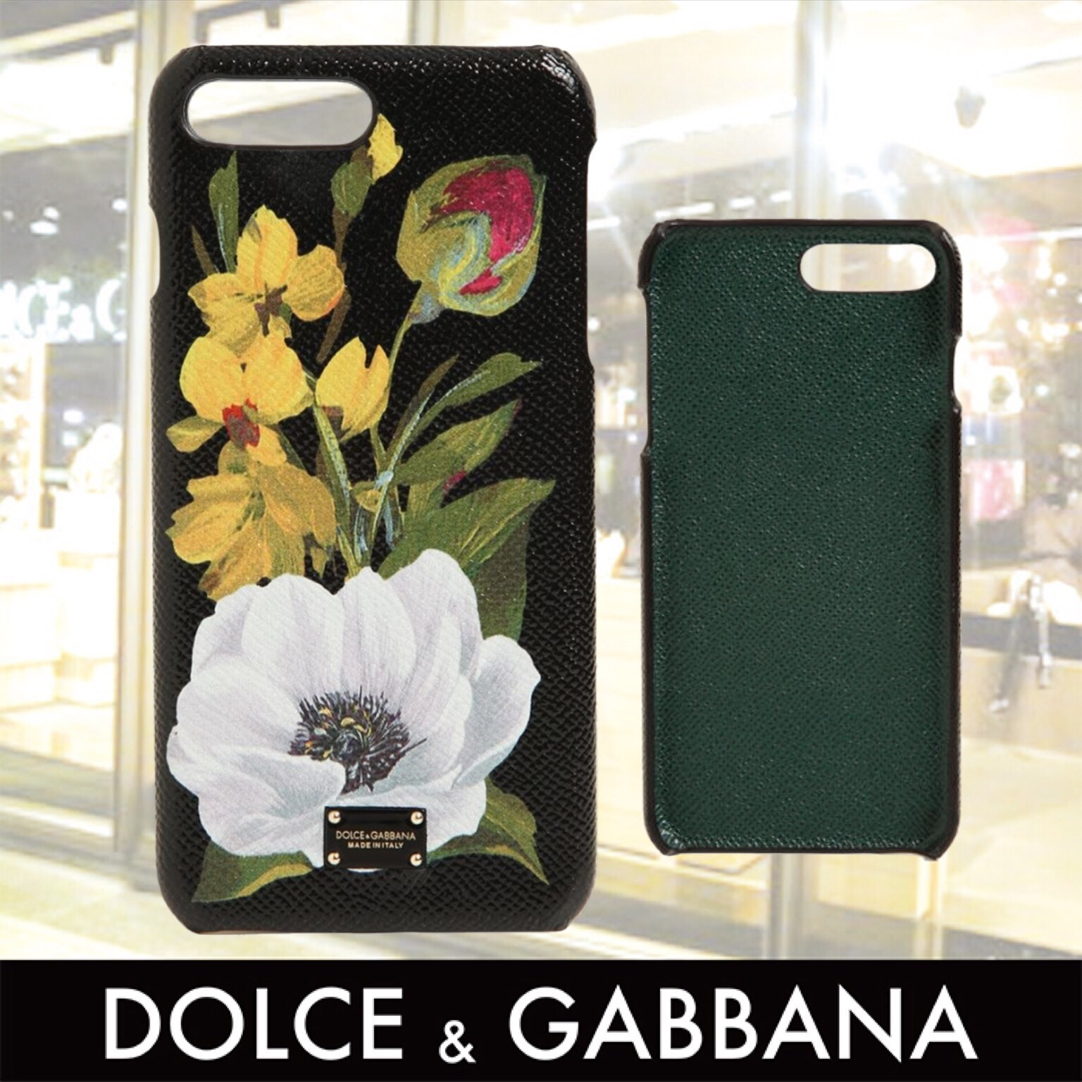 DOLCE&GABBANA Flower Print iPhone7 Plus Case 関税送料込