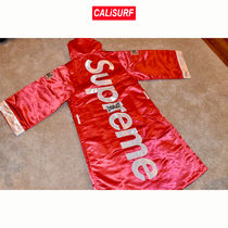 Supreme Everlast Stain Hooded Boxing Robe-RED Sサイズ