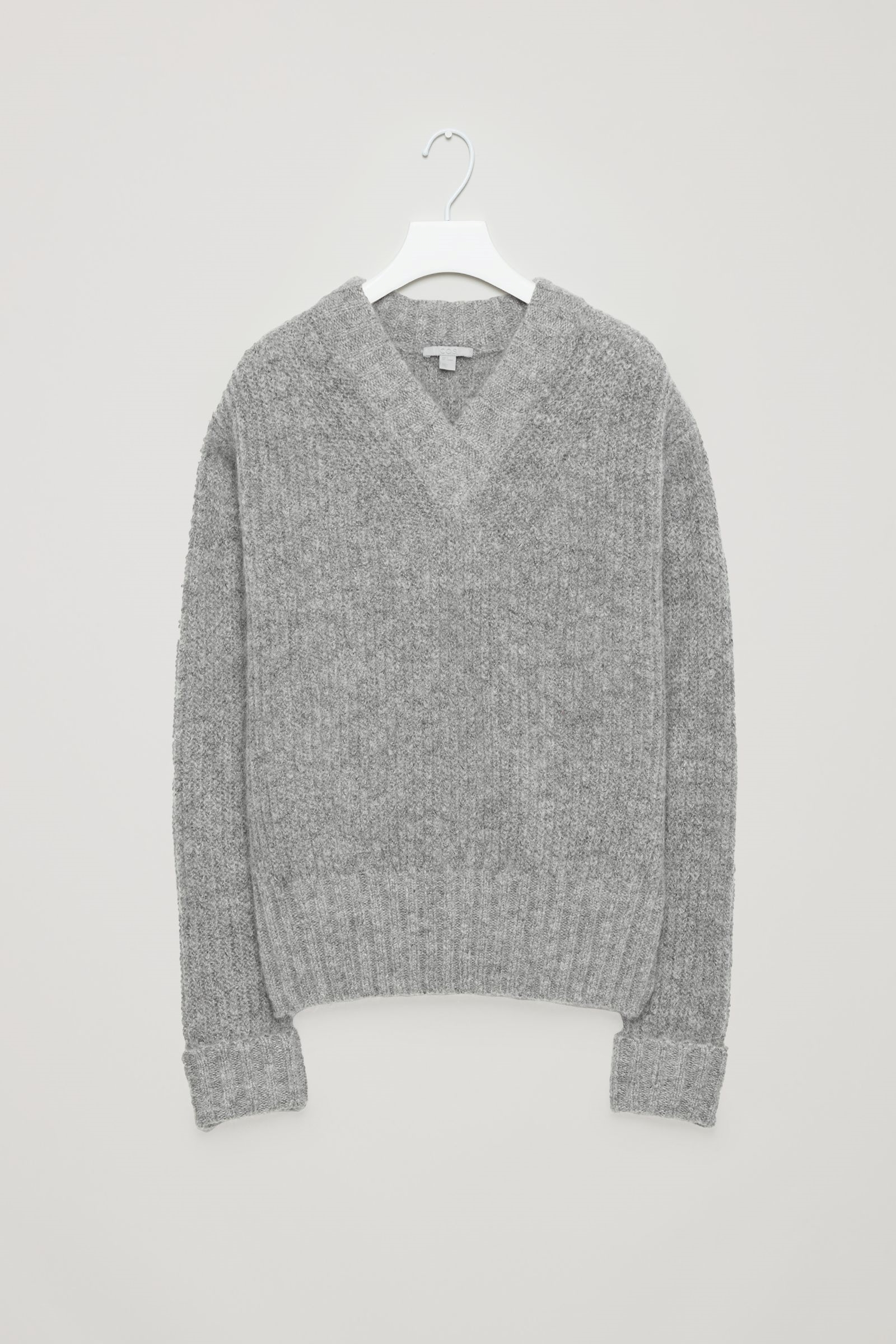 COS(H&M)新作☆TEXTURED WOOL-MOHAIR JUMPER
