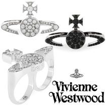 ◆VivienneWestwood◆キラキラオーブ二本指リング♪Anatoly Ring