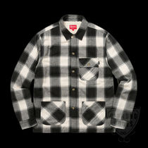 FW17 SUPREME BUFFALO PLAID SHERPA LINED CHORE SHIRT 送料無料