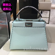 FENDI  新作SELLERIA PEEKABOO MINI ACQUA  (水色)/パイソン