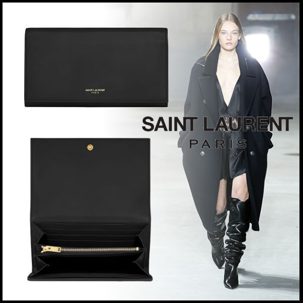 送料関税込☆SAINT LAURENT CLASSIC LARGE FLAP WALLET
