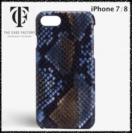 THE CASE FACTORY スマホケース・テックアクセサリー 国内発送☆THE CASE FACTORY☆iPhone 7/8 パイソン SUNSET BLUE