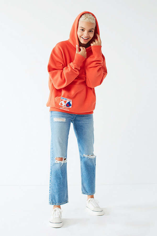 Champion & UO Reverse Weave Embroidered Hoodie Sweatshirt