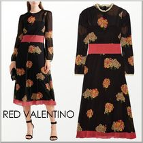 17-18AW★RED VALENTINO シルク混 フローラル柄 ワンピース