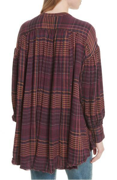 FREE PEOPLE Come on Over Plaid Top チェック シャツ
