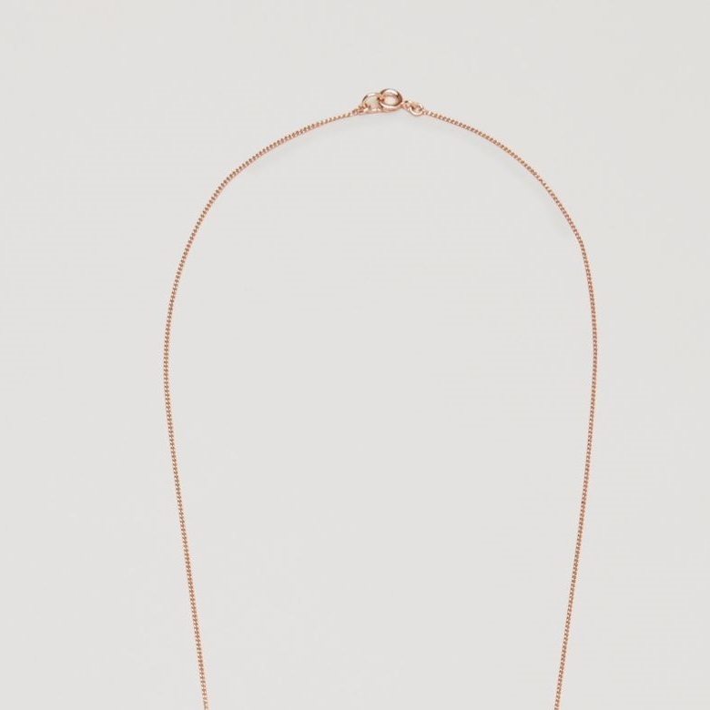 """COS""LONG NECKLACE WITH WIRE SHAPES COPPER"