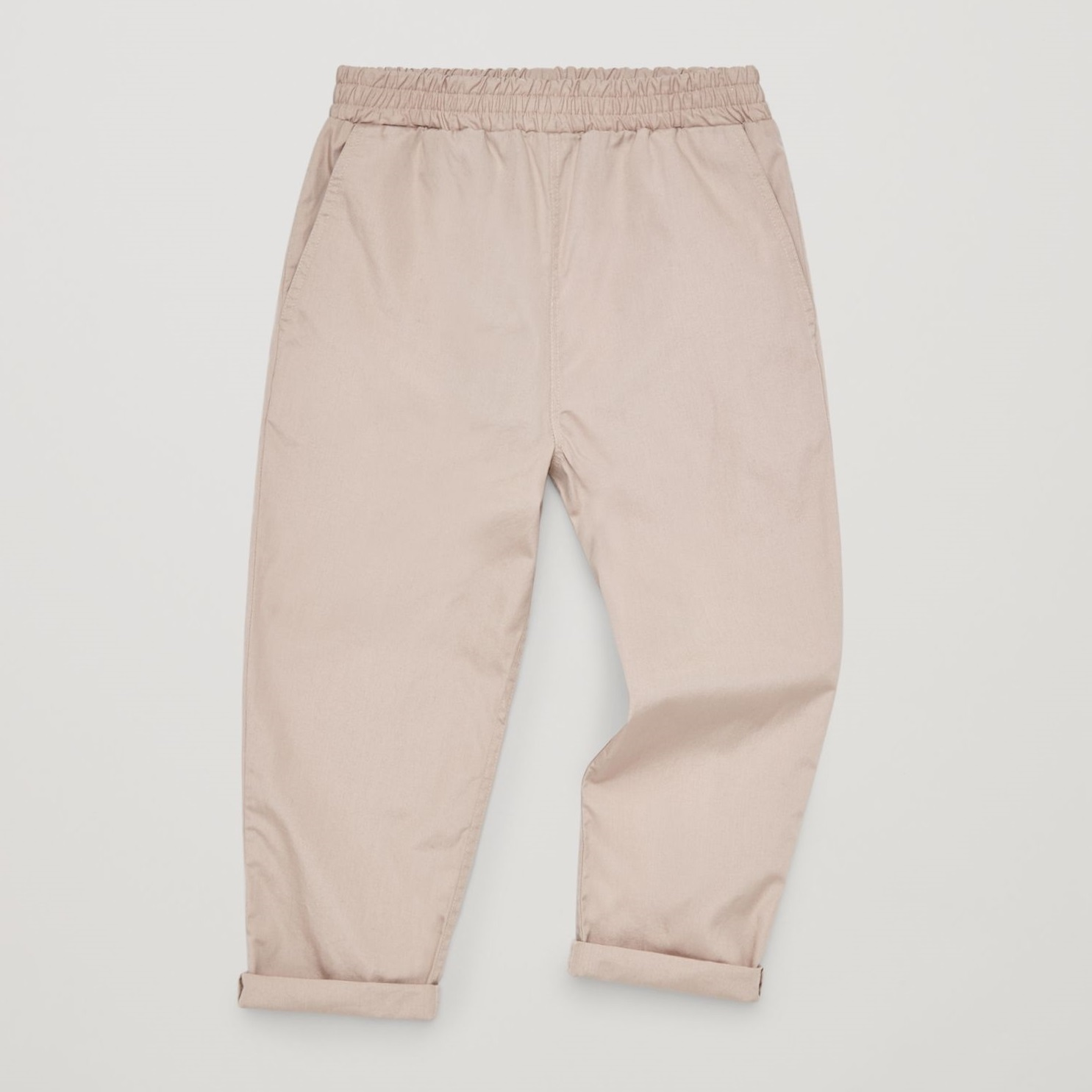 """COS KIDS""COTTON POPLIN TROUSERS KHAKIBROWN"