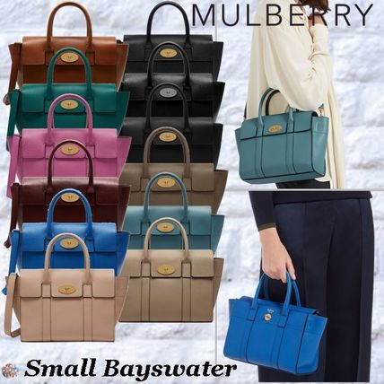 Mulberry トートバッグ Mulberry☆Small Bayswater Grain Leather カラー豊富!