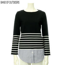 Band of Outsiders(バンドオブアウトサイダーズ) Tシャツ・カットソー BAND OF OUTSIDERS レディス 重ね着風カットソー 765387