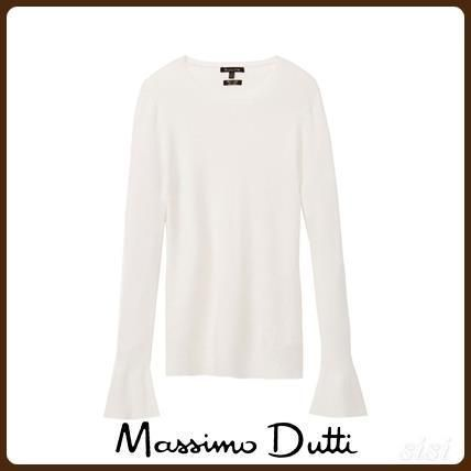 MassimoDutti♪RIBBED SWEATER WITH BELL DETAIL