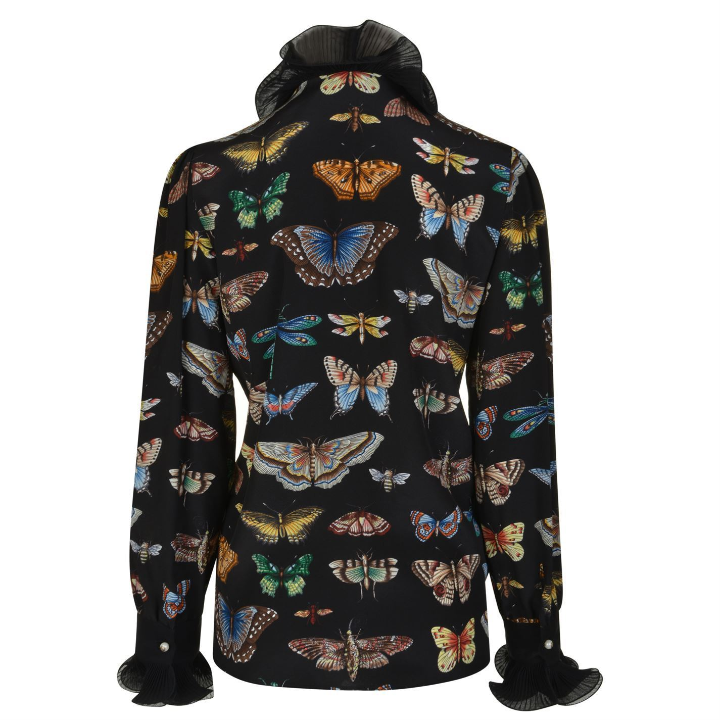 GUCCI BUTTERFLY FRILL BLOUSE 関税送料込