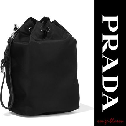 PRADA メイクポーチ 【国内発送】PRADA Vela leather-trimmed shell cosmetics case(4)
