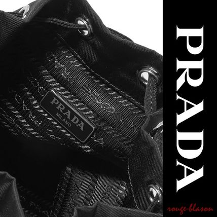 PRADA メイクポーチ 【国内発送】PRADA Vela leather-trimmed shell cosmetics case(5)