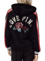 BLING LACE-UP HOODIE