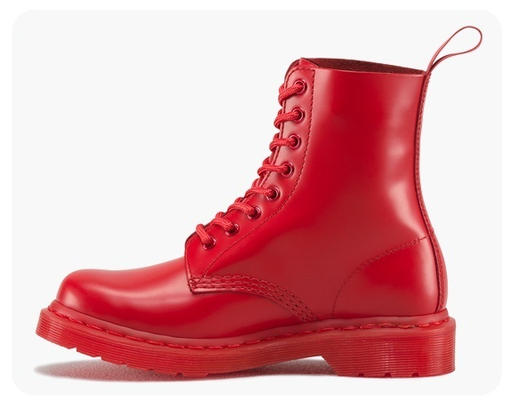 【Dr.Martens】PASCAL 8 EYE BOOT RED 16523601