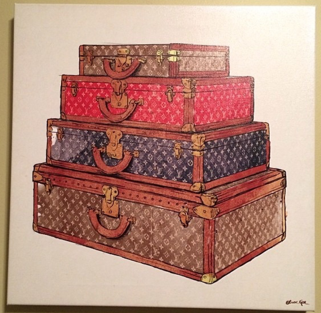 速達発送★Oliver Gal★The Royal Luggage★キャンバス 91x91cm