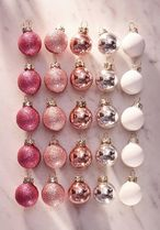 Assorted Mini Ball Christmas Ornament - Set Of 25