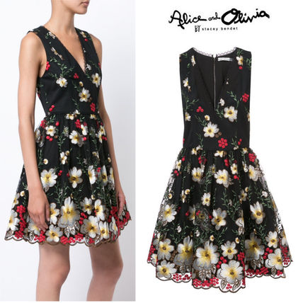 25ans5月号掲載★17AW★ALICE+OLIVIA★floral embroidered dress