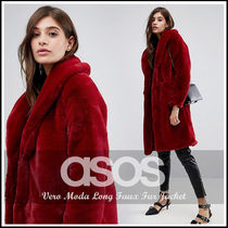 大人Red☆Vero Moda Long Faux Fur Jacket/フェイクファーコート