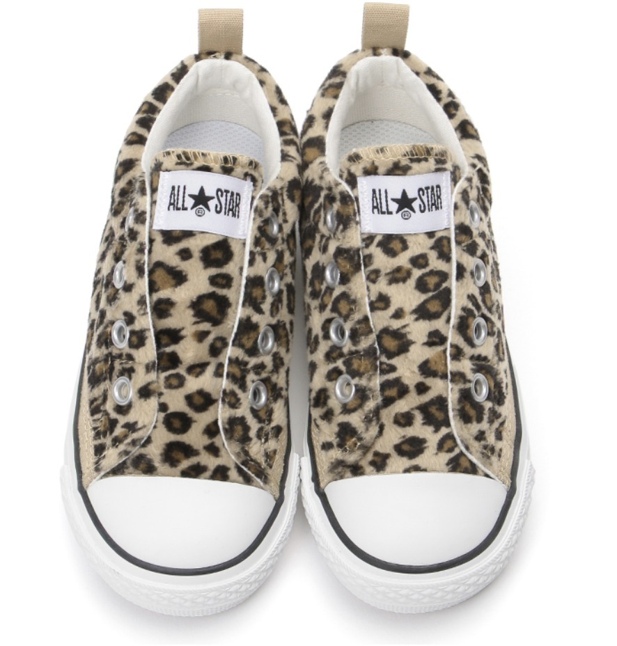 CHILD ALL STAR N LEOPARDFUR SLIP OX チャイルド オールスター