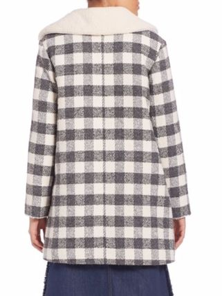 See by Chloe コート 限定セール【SEE BY CHLOE 】Oversized Checkered Faux Fur Coat(2)