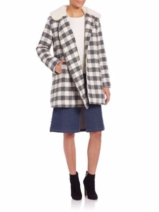 See by Chloe コート 限定セール【SEE BY CHLOE 】Oversized Checkered Faux Fur Coat(3)