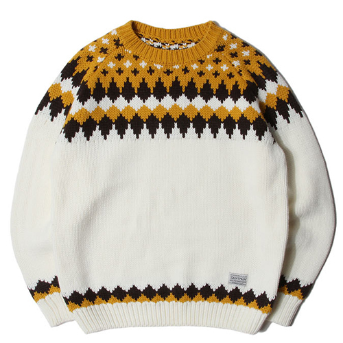★SAINTPAIN★日本未入荷/SP TOMS NORDIC KNIT SWEATER(BE)