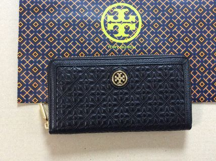 Tory Burch BRYANT ZIP Continetal Wallet 花ステッチ長財布