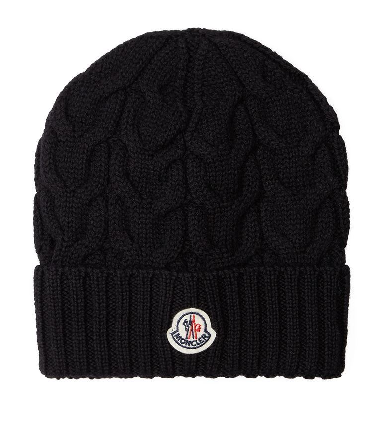 送料関税込!2018AW新作 MONCLER Logo Badge Beanie Hat