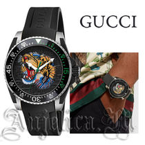 ★関税・送料込★GUCCI Dive Tiger Motif Dial Men's YA136318