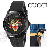 ★関税・送料込★GUCCI G-Timeless Black with Cat  YA1264021