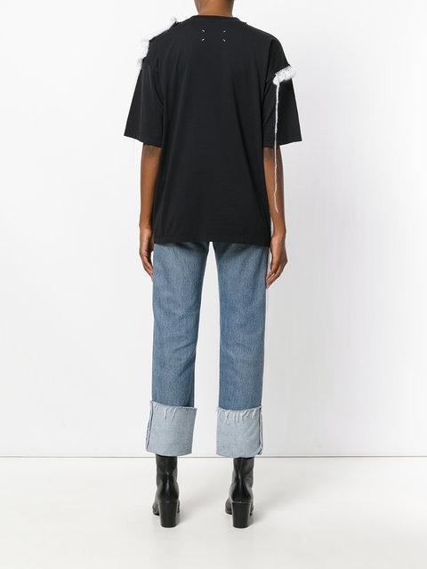 【SALE!40%OFF】Maison Margiela_women / レース付TシャツBK