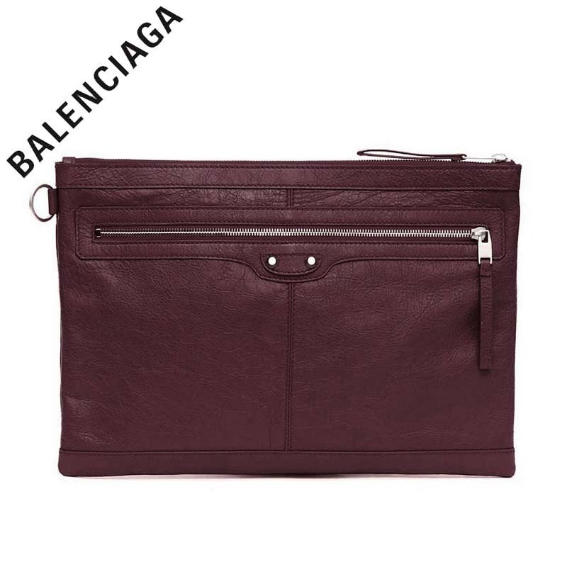 ☆BALENCIAGA(バレンシアガ)☆Clip L Clutch Bag Burgundy