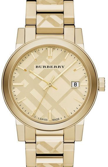 送料関税込み Burberry Unisex Check Stamped Bracelet Watch