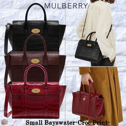 Mulberry トートバッグ Mulberry☆Small Bayswater-Croc Print- クロコダイル柄