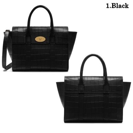 Mulberry トートバッグ Mulberry☆Small Bayswater-Croc Print- クロコダイル柄(2)