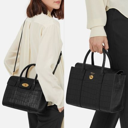 Mulberry トートバッグ Mulberry☆Small Bayswater-Croc Print- クロコダイル柄(5)