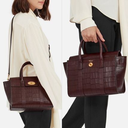 Mulberry トートバッグ Mulberry☆Small Bayswater-Croc Print- クロコダイル柄(9)
