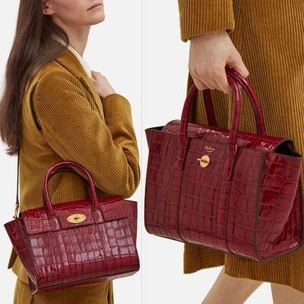 Mulberry トートバッグ Mulberry☆Small Bayswater-Croc Print- クロコダイル柄(13)