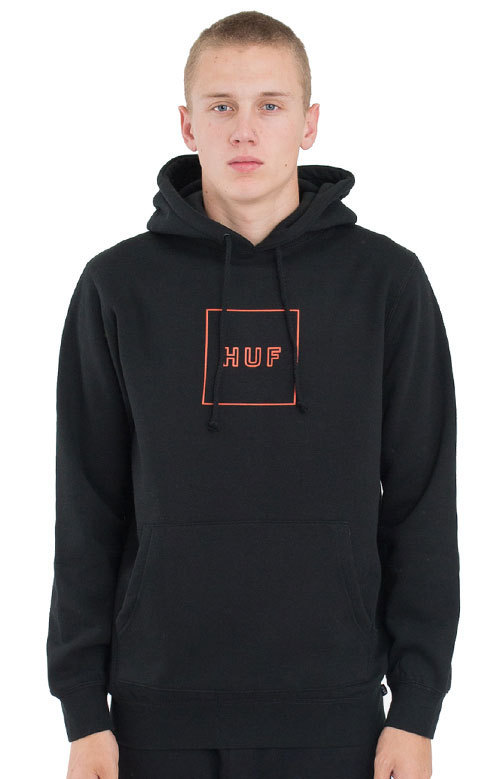 関税・送料込み★Outline Box Logo Pullo HUF Hoodies★国内発送