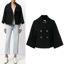17-18AW C271 CROPPED DOUBLE BREASTED WOOL COAT