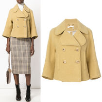 17-18AW C272 CROPPED DOUBLE BREASTED WOOL COAT
