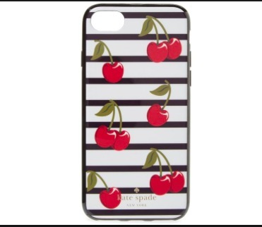 SALE☆ kate spade iphone7 チェリー柄 ケース