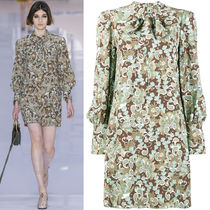 17-18AW C273 LOOK2 BUTTERFLY GARDEN PRINT DRESS