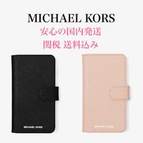 *国内発送* Michael Kors Saffiano Leather Folio iPhone X