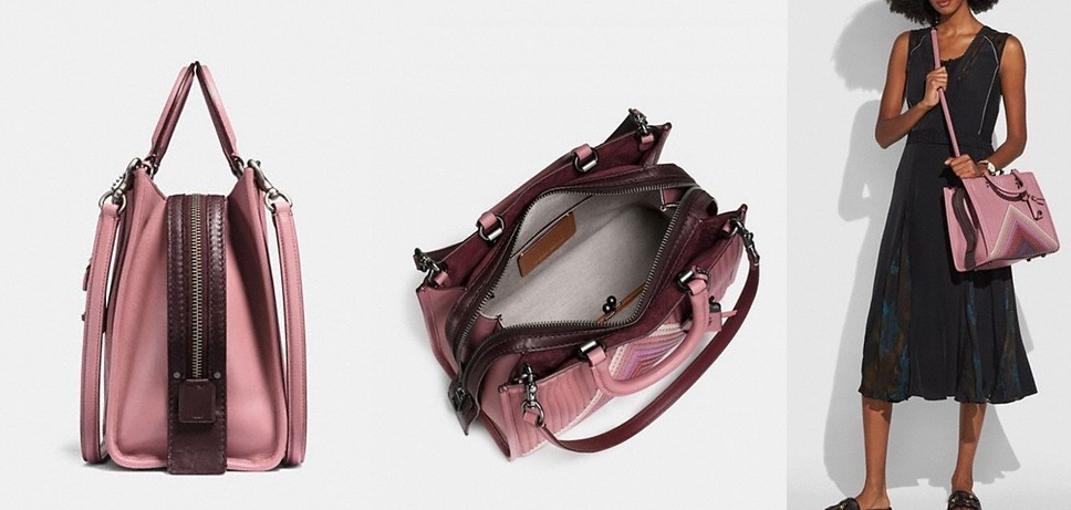 Coach ◆ 25035 Rogue with colorblock quilting and rivets